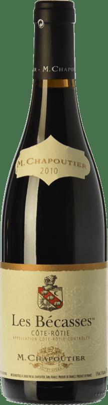 84,95 € Free Shipping | Red wine Chapoutier Les Bécasses Crianza A.O.C. Côte-Rôtie Rhône France Syrah Bottle 75 cl