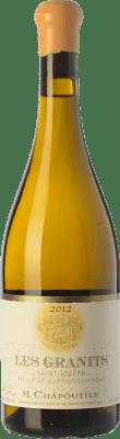 63,95 € Free Shipping | White wine Chapoutier Les Granits blanc Crianza A.O.C. Saint-Joseph Rhône France Marsanne Bottle 75 cl