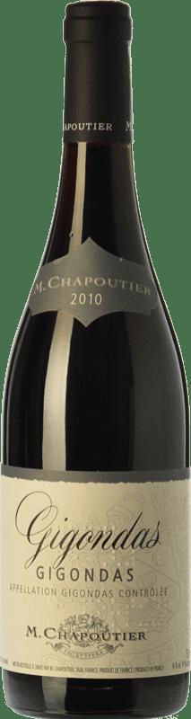 28,95 € Free Shipping | Red wine Chapoutier Crianza A.O.C. Gigondas Rhône France Syrah, Grenache, Mourvèdre, Cinsault Bottle 75 cl