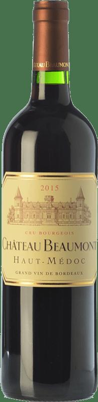17,95 € Free Shipping | Red wine Château Beaumont Crianza A.O.C. Haut-Médoc Bordeaux France Merlot, Cabernet Sauvignon Bottle 75 cl