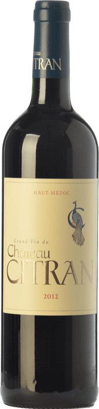 21,95 € Envío gratis | Vino tinto Château Citran Crianza A.O.C. Haut-Médoc Burdeos Francia Merlot, Cabernet Sauvignon, Cabernet Franc Botella 75 cl
