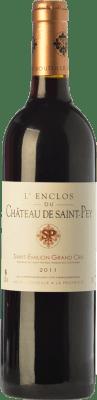 14,95 € Envío gratis | Vino tinto Château de Saint-Pey L'Enclos Joven A.O.C. Saint-Émilion Grand Cru Burdeos Francia Merlot, Cabernet Sauvignon, Cabernet Franc Botella 75 cl