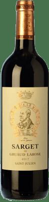 38,95 € Free Shipping | Red wine Château Gruaud Larose Sarget Crianza A.O.C. Saint-Julien Bordeaux France Merlot, Cabernet Sauvignon, Cabernet Franc, Petit Verdot Bottle 75 cl