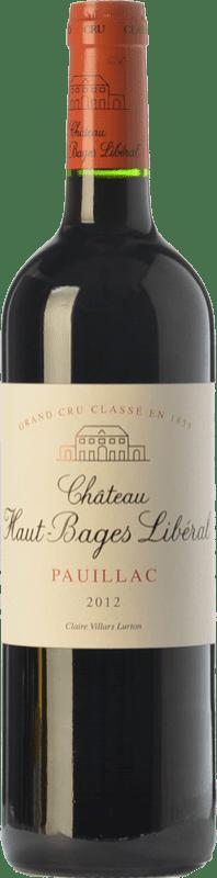 55,95 € Free Shipping | Red wine Château Haut-Bages Libéral Crianza A.O.C. Pauillac Bordeaux France Merlot, Cabernet Sauvignon Bottle 75 cl