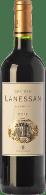 17,95 € Envío gratis | Vino tinto Château Lanessan Crianza A.O.C. Haut-Médoc Burdeos Francia Merlot, Cabernet Sauvignon, Petit Verdot Botella 75 cl