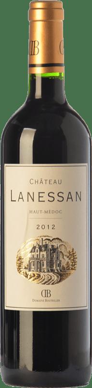 17,95 € Free Shipping | Red wine Château Lanessan Crianza A.O.C. Haut-Médoc Bordeaux France Merlot, Cabernet Sauvignon, Petit Verdot Bottle 75 cl