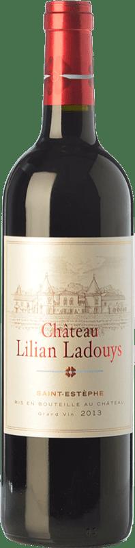 19,95 € Envío gratis | Vino tinto Château Lilian-Ladouys Crianza A.O.C. Saint-Estèphe Burdeos Francia Merlot, Cabernet Sauvignon, Cabernet Franc, Petit Verdot Botella 75 cl
