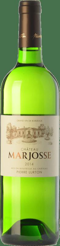 8,95 € Envoi gratuit | Vin blanc Château Marjosse Blanc Bordeaux Crianza A.O.C. Entre-deux-Mers Bordeaux France Sauvignon Blanc, Sémillon, Muscadelle, Sauvignon Gris Bouteille 75 cl