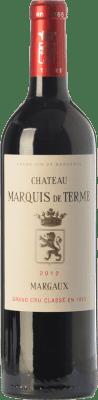 63,95 € Free Shipping | Red wine Château Marquis de Terme Crianza A.O.C. Margaux Bordeaux France Merlot, Cabernet Sauvignon, Petit Verdot Bottle 75 cl
