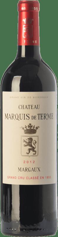 57,95 € Envío gratis | Vino tinto Château Marquis de Terme Crianza A.O.C. Margaux Burdeos Francia Merlot, Cabernet Sauvignon, Petit Verdot Botella 75 cl