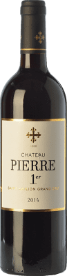 19,95 € Free Shipping | Red wine Château Pierre 1er Crianza A.O.C. Saint-Émilion Grand Cru Bordeaux France Merlot, Cabernet Franc Bottle 75 cl