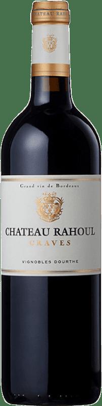 17,95 € Envío gratis | Vino tinto Château Rahoul Crianza A.O.C. Graves Burdeos Francia Merlot, Cabernet Sauvignon Botella 75 cl