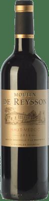 7,95 € Envío gratis | Vino tinto Château Reysson Moulin Crianza A.O.C. Haut-Médoc Burdeos Francia Merlot Botella 75 cl