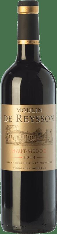 7,95 € Free Shipping | Red wine Château Reysson Moulin Crianza A.O.C. Haut-Médoc Bordeaux France Merlot Bottle 75 cl