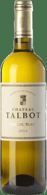 42,95 € Envoi gratuit | Vin blanc Château Talbot Caillou Blanc Crianza A.O.C. Bordeaux Bordeaux France Sémillon, Sauvignon Bouteille 75 cl