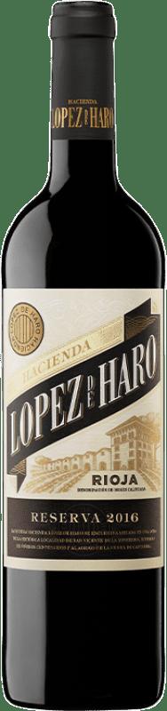 16,95 € Envoi gratuit | Vin rouge Classica Hacienda López de Haro Crianza D.O.Ca. Rioja La Rioja Espagne Tempranillo, Grenache, Graciano Bouteille Magnum 1,5 L