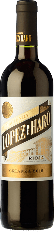 16,95 € Envío gratis | Vino tinto Classica Hacienda López de Haro Crianza D.O.Ca. Rioja La Rioja España Tempranillo, Garnacha, Graciano Botella Mágnum 1,5 L