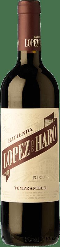 5,95 € Envoi gratuit | Vin rouge Classica Hacienda López de Haro Joven D.O.Ca. Rioja La Rioja Espagne Tempranillo Bouteille 75 cl