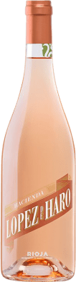 5,95 € Envoi gratuit | Vin rose Classica Hacienda López de Haro Joven D.O.Ca. Rioja La Rioja Espagne Tempranillo, Grenache Bouteille 75 cl