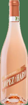 7,95 € Envío gratis | Vino rosado Classica Hacienda López de Haro Joven D.O.Ca. Rioja La Rioja España Tempranillo, Garnacha Botella 75 cl