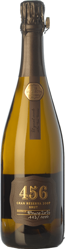 183,95 € Free Shipping | White sparkling Codorníu Ars Collecta 456 Brut Gran Reserva 2007 D.O. Cava Catalonia Spain Pinot Black, Xarel·lo, Chardonnay Bottle 75 cl