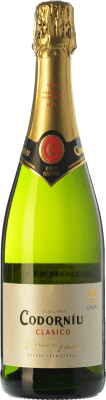6,95 € Free Shipping | White sparkling Codorníu Clásico Brut Nature Reserva D.O. Cava Catalonia Spain Macabeo, Xarel·lo, Parellada Bottle 75 cl | Thousands of wine lovers trust us to get the best price guarantee, free shipping always and hassle-free shopping and returns.