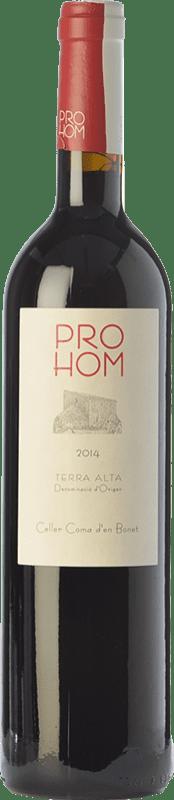 7,95 € Free Shipping | Red wine Coma d'en Bonet Prohom Negre Joven D.O. Terra Alta Catalonia Spain Syrah, Grenache, Cabernet Sauvignon Bottle 75 cl