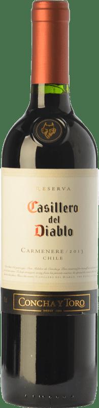 6,95 € Envío gratis | Vino tinto Concha y Toro Casillero del Diablo Crianza I.G. Valle Central Valle Central Chile Carmenère Botella 75 cl