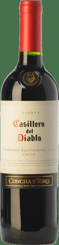 7,95 € Envío gratis | Vino tinto Concha y Toro Casillero del Diablo Crianza I.G. Valle Central Valle Central Chile Cabernet Sauvignon Botella 75 cl