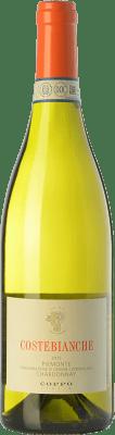 18,95 € Free Shipping | White wine Coppo Costebianche D.O.C. Piedmont Piemonte Italy Chardonnay Bottle 75 cl