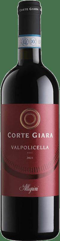 9,95 € Envoi gratuit | Vin rouge Corte Giara D.O.C. Valpolicella Vénétie Italie Corvina, Rondinella Bouteille 75 cl
