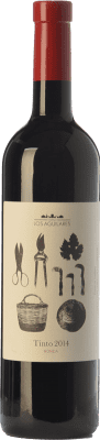12,95 € Kostenloser Versand | Rotwein Los Aguilares Joven D.O. Sierras de Málaga Andalusien Spanien Tempranillo, Merlot, Syrah Flasche 75 cl