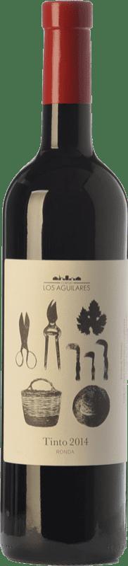 12,95 € Envío gratis | Vino tinto Los Aguilares Joven D.O. Sierras de Málaga Andalucía España Tempranillo, Merlot, Syrah Botella 75 cl