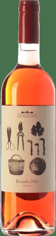 9,95 € Envío gratis | Vino rosado Los Aguilares Joven D.O. Sierras de Málaga Andalucía España Tempranillo, Merlot, Syrah, Petit Verdot Botella 75 cl