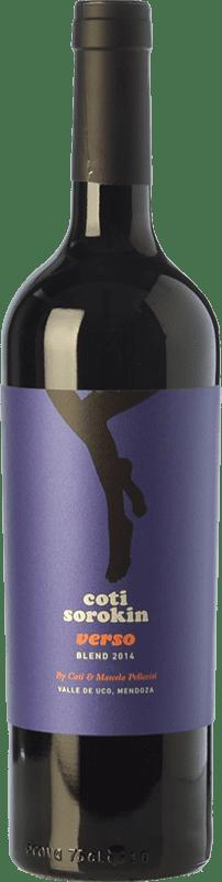 14,95 € Free Shipping | Red wine Coti Sorokin Verso Blend Crianza I.G. Valle de Uco Uco Valley Argentina Merlot, Syrah, Cabernet Sauvignon, Malbec Bottle 75 cl