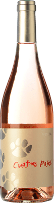 5,95 € Kostenloser Versand | Rosé-Wein Cuatro Pasos Joven D.O. Bierzo Kastilien und León Spanien Mencía Flasche 75 cl