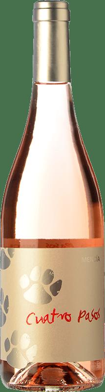 4,95 € Free Shipping | Rosé wine Cuatro Pasos Joven D.O. Bierzo Castilla y León Spain Mencía Bottle 75 cl