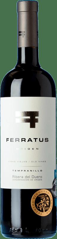 21,95 € Free Shipping | Red wine Cuevas Jiménez Ferratus Crianza D.O. Ribera del Duero Castilla y León Spain Tempranillo Bottle 75 cl