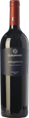 28,95 € Free Shipping | Red wine Cusumano Sàgana I.G.T. Terre Siciliane Sicily Italy Nero d'Avola Bottle 75 cl