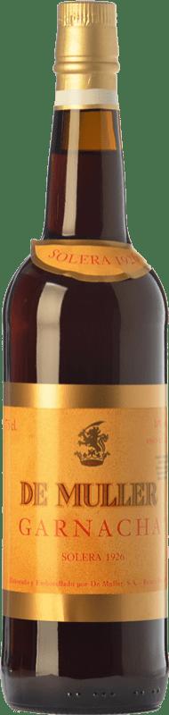 36,95 € Envío gratis | Vino dulce De Muller Solera 1926 D.O. Tarragona Cataluña España Garnacha Botella 75 cl