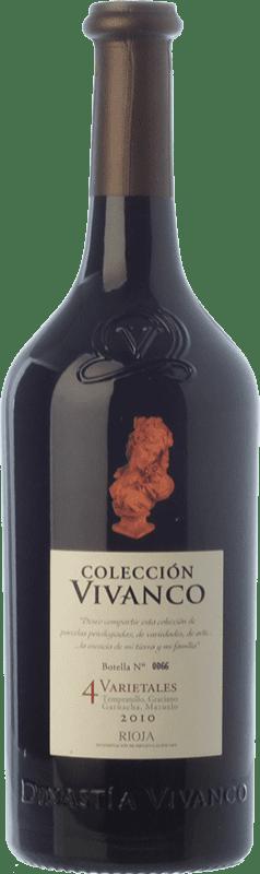 34,95 € Envío gratis | Vino tinto Vivanco Colección 4 Varietales Crianza D.O.Ca. Rioja La Rioja España Tempranillo, Garnacha, Graciano, Mazuelo Botella 75 cl