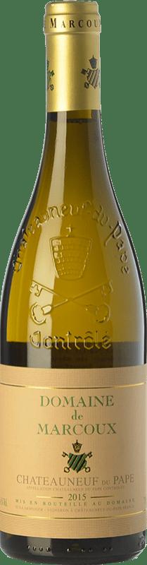 64,95 € Envío gratis | Vino blanco Domaine de Marcoux Blanc Crianza A.O.C. Châteauneuf-du-Pape Rhône Francia Roussanne, Bourboulenc Botella 75 cl