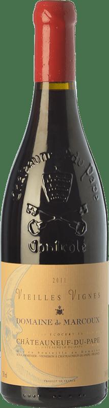 145,95 € Envío gratis | Vino tinto Domaine de Marcoux Vieilles Vignes Crianza A.O.C. Châteauneuf-du-Pape Rhône Francia Garnacha Botella 75 cl