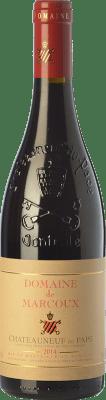 62,95 € Envío gratis | Vino tinto Domaine de Marcoux Crianza A.O.C. Châteauneuf-du-Pape Rhône Francia Syrah, Garnacha, Mourvèdre, Cinsault Botella 75 cl