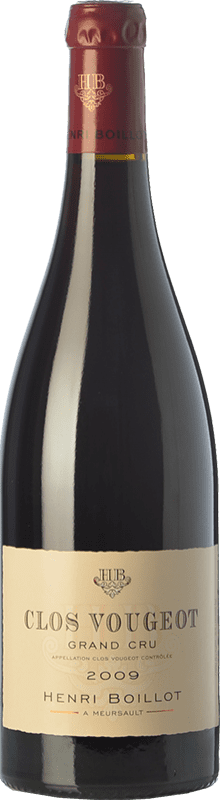 142,95 € Free Shipping | Red wine Domaine Henri Boillot Grand Cru Crianza 2009 A.O.C. Clos de Vougeot Burgundy France Pinot Black Bottle 75 cl