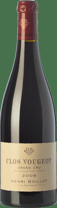 142,95 € Envío gratis | Vino tinto Domaine Henri Boillot Grand Cru Crianza 2009 A.O.C. Clos de Vougeot Borgoña Francia Pinot Negro Botella 75 cl