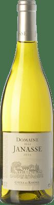 13,95 € Free Shipping | White wine Domaine La Janasse Blanc A.O.C. Côtes du Rhône Rhône France Grenache, Roussanne, Viognier, Bourboulenc, Clairette Blanche Bottle 75 cl
