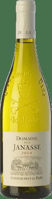 49,95 € Kostenloser Versand | Weißwein Domaine La Janasse Blanc Crianza A.O.C. Châteauneuf-du-Pape Rhône Frankreich Grenache Weiß, Roussanne, Clairette Blanche Flasche 75 cl