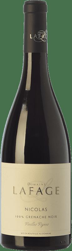 9,95 € Envío gratis | Vino tinto Domaine Lafage Nicolas Joven I.G.P. Vin de Pays Côtes Catalanes Languedoc-Roussillon Francia Garnacha Botella 75 cl