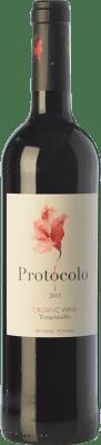 4,95 € Envío gratis | Vino tinto Dominio de Eguren Protocolo Joven I.G.P. Vino de la Tierra de Castilla Castilla la Mancha España Tempranillo Botella 75 cl